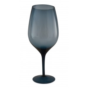 KIELISZEK szklany niebieski XL