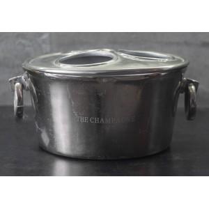 POJEMNIK cooler do lodu aluminium srebrny XL