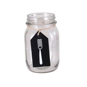 Słoik na widelce szklany