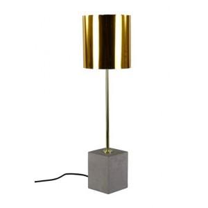 LAMPA stołowa złota wys. 65cm