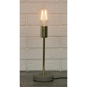 LAMPA ZŁOTA metalowa / betonowa 31cm