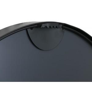 LUSTRO okrągłe METALOWE czarne 50cm