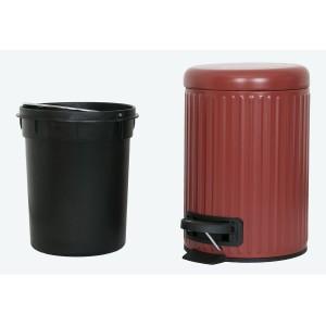 KOSZ łazienkowy czerwony 3L