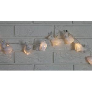 LAMPKI ledowe zające k. biały