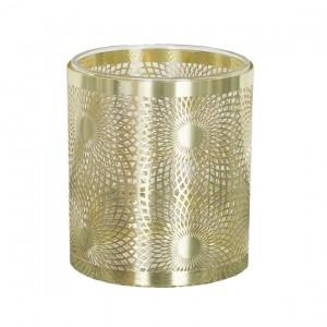 ŚWIECZNIK tealight złoty...