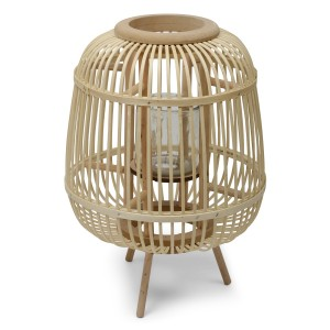 LAMPION drewniany brązowy...