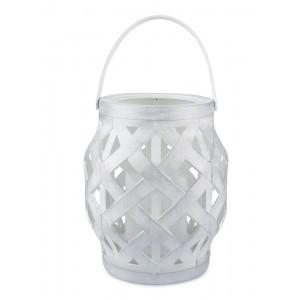 LAMPION LED biały 16x14cm