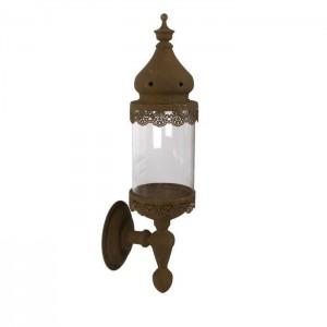 LAMPION METALOWY BRĄZOWY H55cm