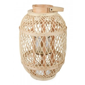 LAMPION bambusowy k. naturalny