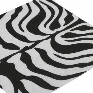 SERWETKI papierowe czarno-białe 20 szt