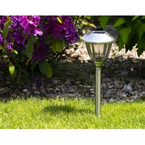 LAMPA ogrodowa SOLARNA szkło / metal