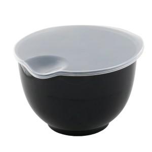 MISKA z przykrywką czarna 2L