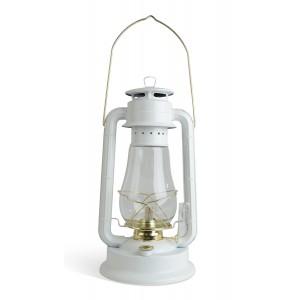 LAMPA NAFTOWA biała / złota XL