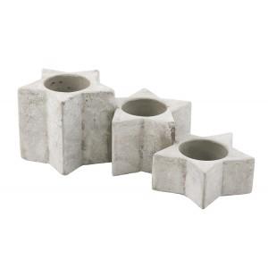 ŚWIECZNIK GWIAZDY betonowy XL