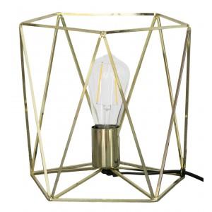 LAMPA nocna stołowa METALOWA złota 25cm