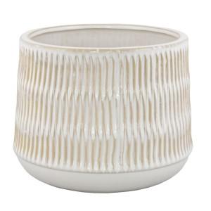 BEŻOWA DONICA ceramiczna XL
