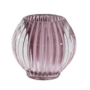 ŚWIECZNIK tealight RÓŻ szklany