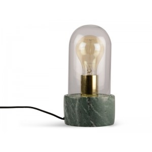LAMPA MARMUROWA + SZKŁO H24cm