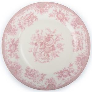 TALERZ ROSE obiadowy różowy
