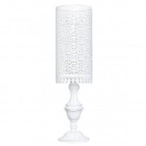 ŚWIECZNIK LAMPA biały styl...