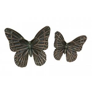 DEKORACJA ŚCIENNA motyle szare