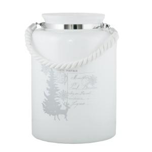 LAMPION CARTE biały szklany
