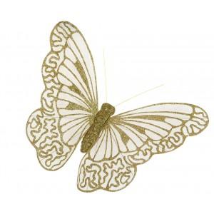 OZDOBA NA FIRANKI motyl złoty