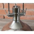 LAMPA WISZĄCA srebrny połysk styl loft