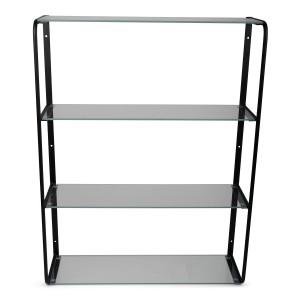 PÓŁKA WISZĄCA metal / szkło XL