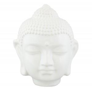 FIGURKA BUDDA ceramiczna biała