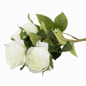 SZTUCZNA RÓŻA biała 39cm