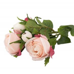 SZTUCZNA RÓŻA różowa 39cm