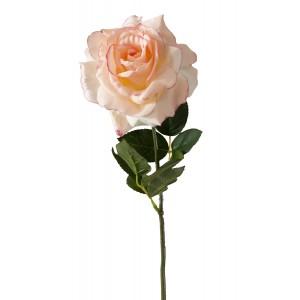 SZTUCZNA RÓŻA różowa 68cm