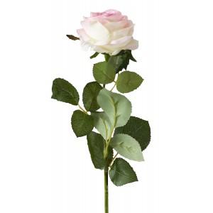 SZTUCZNA RÓŻA różowa 64cm