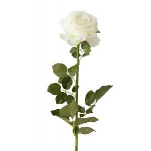 SZTUCZNA RÓŻA biała 72cm