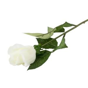 SZTUCZNA RÓŻA biała 48cm