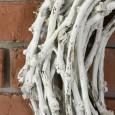 WIANEK DREWNIANY biały śr. 44cm