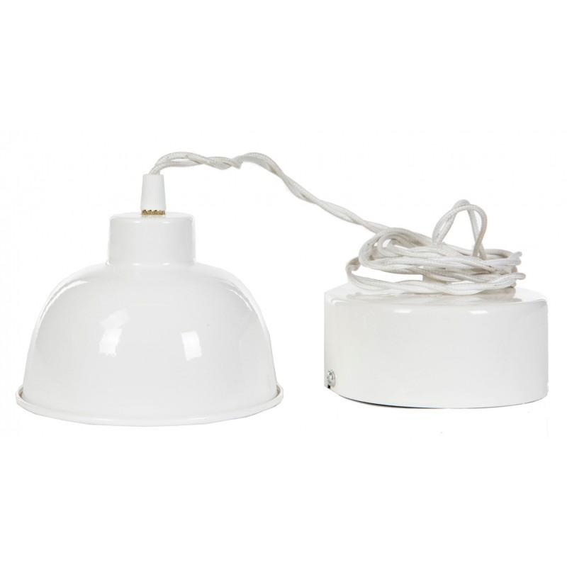 LAMPA wisząca NALA biała śr. 14cm