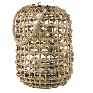 LAMPION STYL BOHO bambusowy