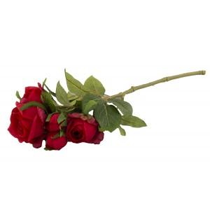 SZTUCZNA RÓŻA czerwona 39cm