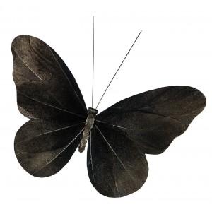 OZDOBA Z KLIPSEM motyl czarny