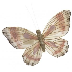 OZDOBA Z KLIPSEM motyl różowy