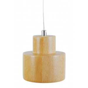LAMPA wisząca DREWNIANA LED