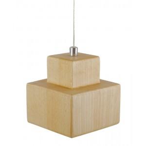 LAMPA wisząca LED drewno...