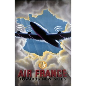"OBRAZ ""AIR FRANCE"" STYL..."