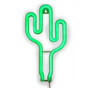 LAMPA NEON LED 'KAKTUS' zielona H26cm