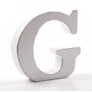 """LITERA """"G"""" BIAŁA"""