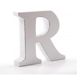 """LITERA """"R"""" BIAŁA"""