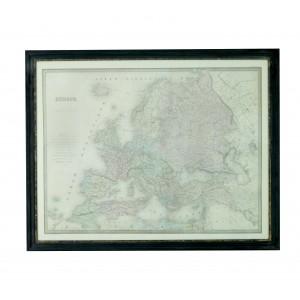 obraz drewniany retro mapa europy 90x70cm