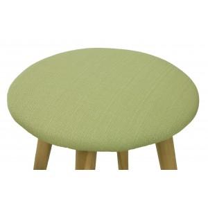 TABORET stołek DREWNIANY zielony wys. 42cm
